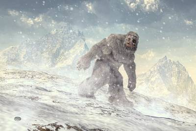Yeti Art Print by Daniel Eskridge