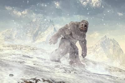 Abominable Snowman Digital Art - Yeti by Daniel Eskridge