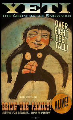 Digital Art - Yeti Poster by Tim Nyberg