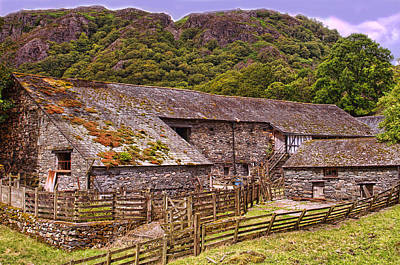 Photograph - Yew Tree Barn Cumbria by Graham Hawcroft pixsellpix