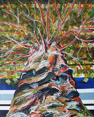 Yggdrasil Painting - Yggdrasil by Laura Hol Art