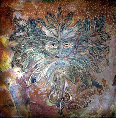 Mixed Media - Yggdrasil Rune Greenman by Shahna Lax