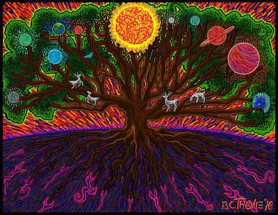 Yggdrasil Painting - Yggdrasil by Thome Designs