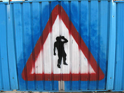 Photograph - Yield To Drunkards. Painted On Construction Fence In Leeds. by Rob Huntley