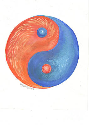 Illustrations Painting - Yin And Yang by Callie Smith