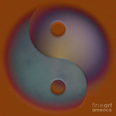 Yin And Yang  Art Print by Liane Wright