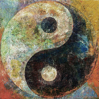 Contemporary Symbolism Painting - Yin And Yang by Michael Creese