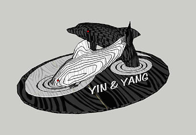 Yin And Yang Original by Motti Inbar