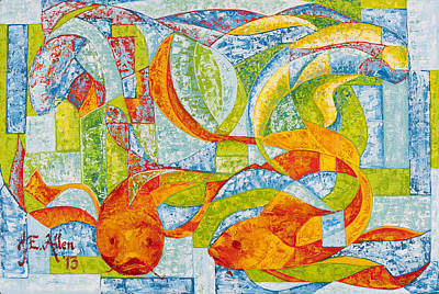 Joseph Edward Allen Painting - Yin And Yang Of Mahi by Joseph Edward Allen