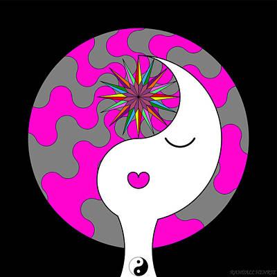 Yin Yang Crown 6 Art Print