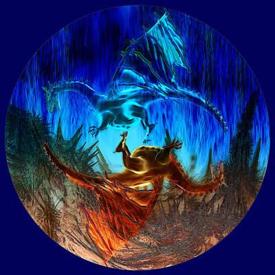 Ice Dragon Digital Art