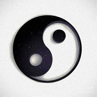 Digital Art - Yin - Yang by Ed Churchill