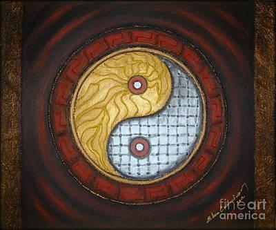 Yin Yang  Art Print by Elena  Constantinescu