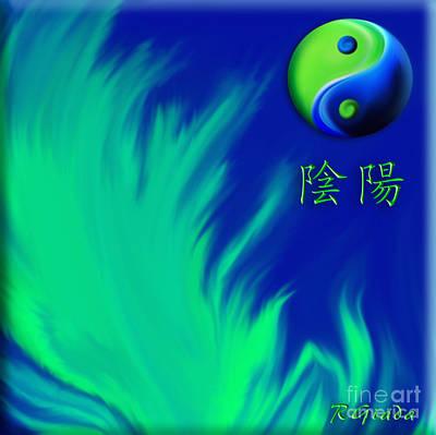 Tibetan Buddhism Digital Art - Yin Yang by Giada Rossi