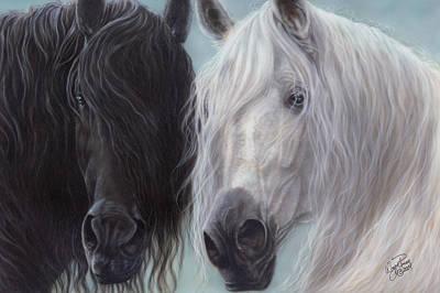 Yin-yang Horses  Art Print
