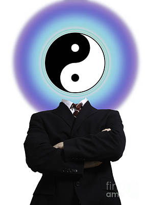 Yin Yang In A Man Art Print by Monica Schroeder