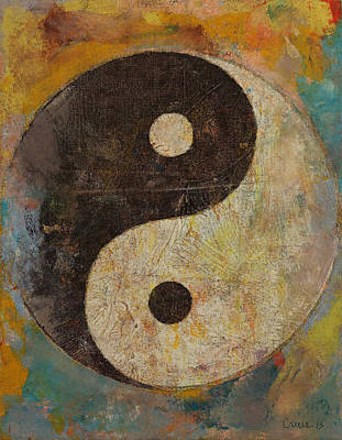 Contemporary Symbolism Painting - Yin Yang by Michael Creese