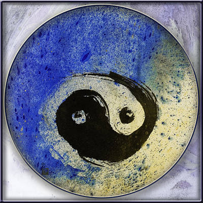 Universal Art Mixed Media - Yin Yang Painting by Peter v Quenter