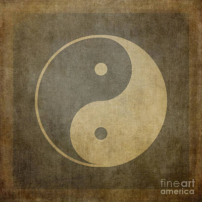 Yin Yang Vintage Art Print by Jane Rix