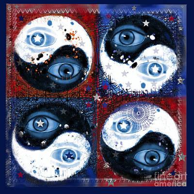 Digital Art - Yin-yang Vision by Carol Jacobs