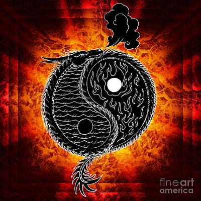 Ying And Yang Art Print by Robert Ball
