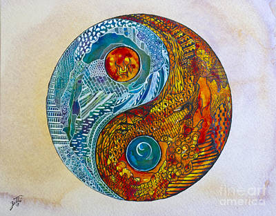 Painting - Yinyang  by Suzette Kallen
