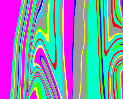Mod Painting - Yipes Stripes II  C2014 by Paul Ashby