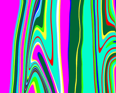 Rainbow Painting - Yipes Stripes II Variation  C2014 by Paul Ashby
