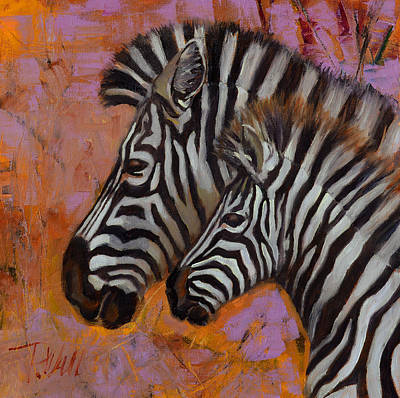 Yipes Stripes Art Print by Pattie Wall