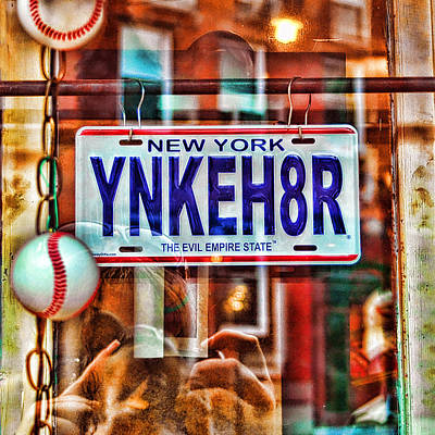 New York Baseball Parks Photograph - Ynkeh8r - Boston by Joann Vitali