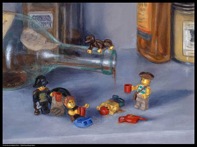 Painting - Yo-ho-ho And A Bottle Of Rum by Diana Moses
