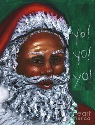 Mixed Media Royalty Free Images - Yo Yo Yo . . .  Merry Christmas Royalty-Free Image by Alga Washington