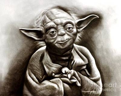Yoda  Art Print by Barbara  Rivera