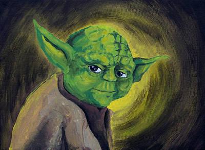 Badass Painting - Yoda by Jack Irons