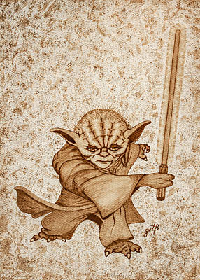 Yoda Jedi Original Dark Beer Painting Original