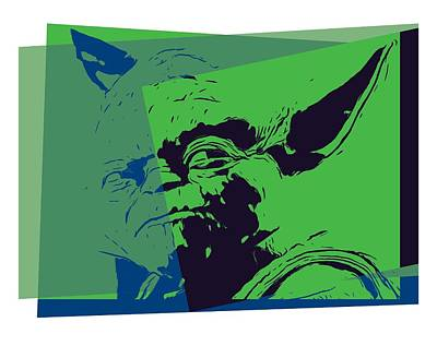 Yoda Pop Art Art Print by Dan Sproul