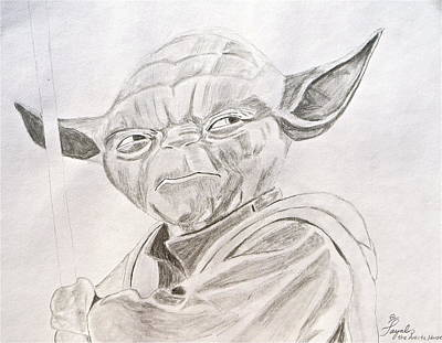 Drawing - Yoda Sketch by Artistic Indian Nurse