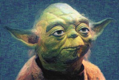 Darth Maul Painting - Yoda by Taylan Apukovska