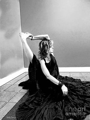 Photograph - Yoga 1 Black And White by Sally Simon