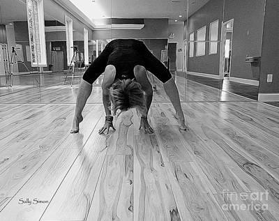 Photograph - Yoga 5 Black And White by Sally Simon