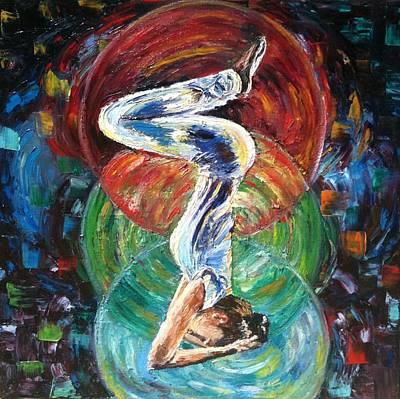Chakra Painting - Yoga Asana  by Mila Kronik