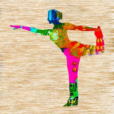 Yoga Print by Marvin Blaine