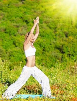 Woman Doing Yoga Photograph - Yoga Outdoor by Anna Om