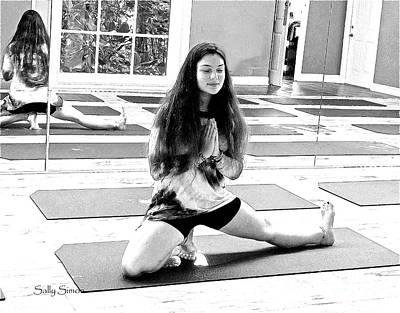 Photograph - Yoga Pose 6 Black And White by Sally Simon