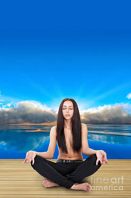 Mental Imagery Photograph - Yoga Pose by Aleksey Tugolukov
