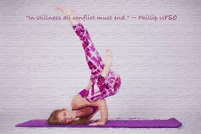 Photograph - Yoga Pose by David Haskett