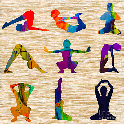 Namaste Mixed Media - Yoga Poses by Marvin Blaine