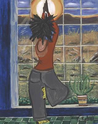 Yoga Pose Painting - Yoga by Reba Baptist