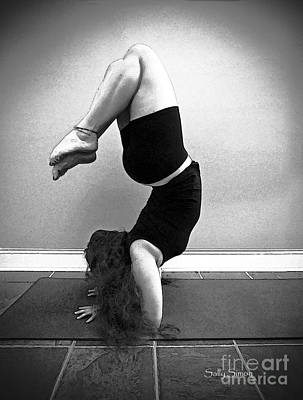 Photograph - Yoga Study 10 In Black And White by Sally Simon