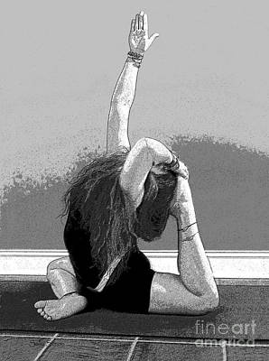 Photograph - Yoga Study 3 In Black And White by Sally Simon